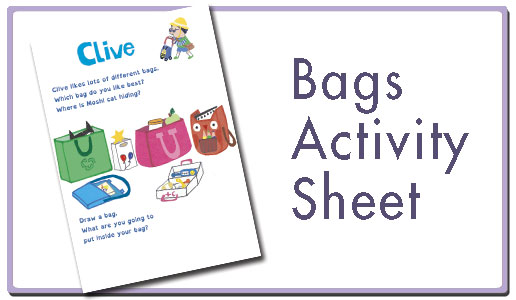 Bag activity sheet button