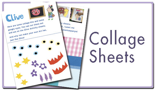 Collage activity sheet button