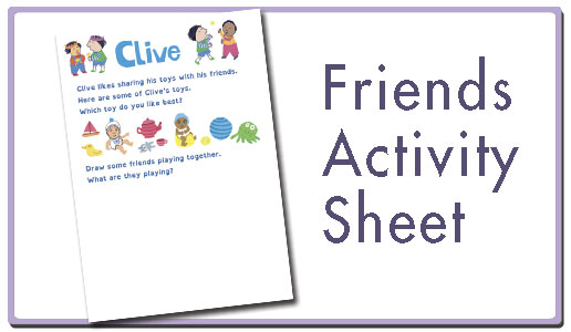 Friends activity sheet button
