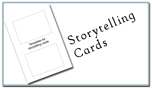 Storytelling cards button