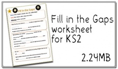 Click here to download the Fill in the Gaps worksheet!